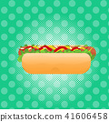 Hot Dog street festival, fast food menu seamless pattern background cooking collection concept 41606458