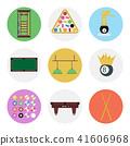 billiards, icon, flat 41606968