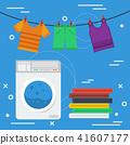 Laundry square concept 41607177