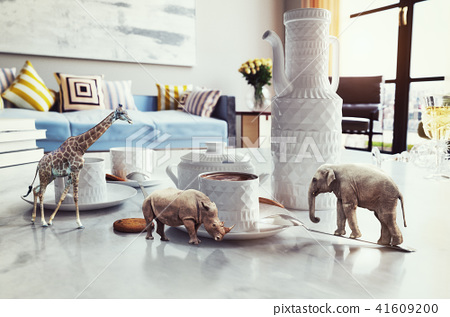 african animals on the coffee table. 41609200