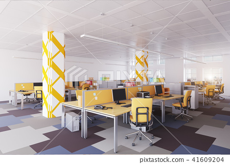 modernt office interior. 41609204