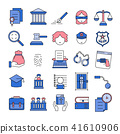 Justice,Court,Law Line Icon set 41610906