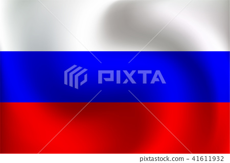 Flag of Russia - Vector Illustration 41611932