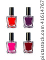 Nail polish bottles on white background vector illustration 41614767