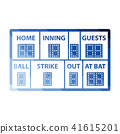 Baseball scoreboard icon 41615201