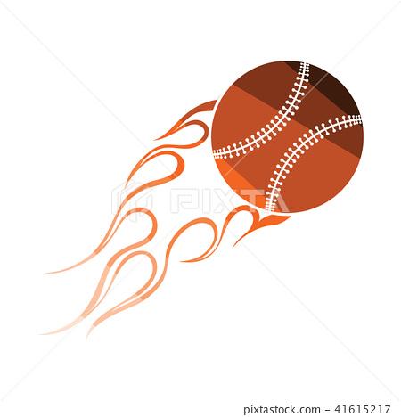 Baseball fire ball icon 41615217