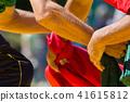 Hands of men in the struggle of national wrestling kuresh at sunny day 41615812