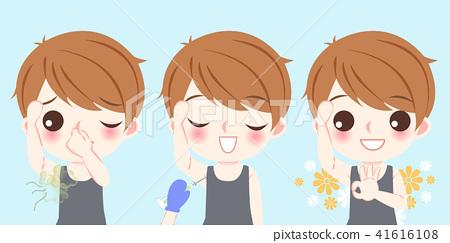 man with body odor problem 41616108