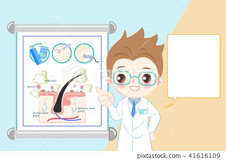 doctor with body odor problem 41616109