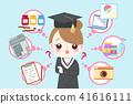 cute cartoon graduate 41616111