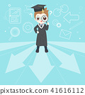 cute cartoon graduate 41616112