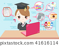 cute cartoon graduate 41616114