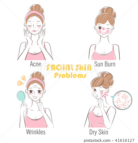 woman with facial skin problems 41616127