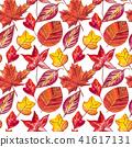 autumn leaf watercolor 41617131
