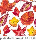 잎, 가을, 수채화 41617134