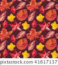 잎, 가을, 수채화 41617137