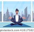 businessman practices yoga 41617582