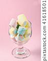 Colorful mini marshmallows. 41618501
