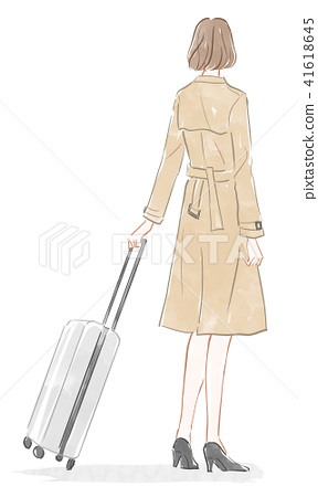 A woman with a suitcase 41618645