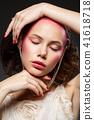 beautiful girl with pink makeup 41618718