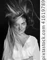 Young sexy blonde hair beautiful girl in shirt 41619789