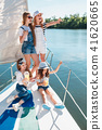 The children on board of sea yacht 41620665