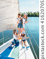 The children on board of sea yacht 41620705