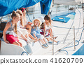 The children on board of sea yacht 41620709