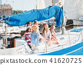 The children on board of sea yacht 41620725