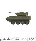 Infantry fighting vehicle, army machine, heavy, special transport vector Illustration on a white 41621226