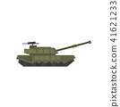 Military armored tank, army machine, heavy, special transport vector Illustration on a white 41621233