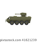 Armored infantry vehicle, army machine, heavy, special transport vector Illustration on a white 41621239