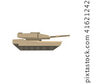 Military tank, army machine, heavy, special transport vector Illustration on a white background 41621242