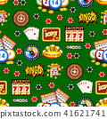 Casino gambling win luck fortune gamble play game seamless pattern background risk chance icons 41621741