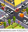 Autonomous Vehicle Isometric Background 41622617