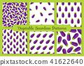 Violet eggplant vegetable seamless pattern set 41622640