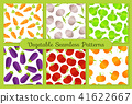 Colorful flat vegetables seamless pattern set 41622667