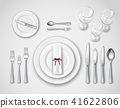 Table Setting Realistic Top View 41622806