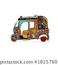 vector, asia, tuktuk 41625760