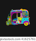 vector, asia, tuktuk 41625761