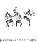 vector, deer, design 41625858