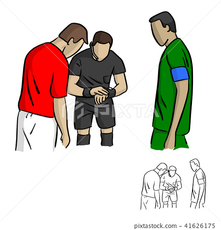 male referee tossing  a coin  41626175