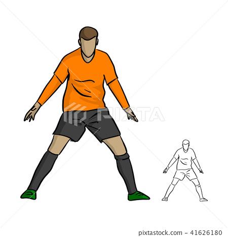 male soccer player celebrating goal  41626180