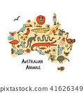 澳大利亚 澳洲 矢量 41626349