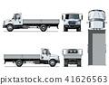vector truck template 41626563