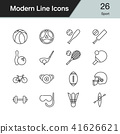 Sport icons. Modern line design set 26.  41626621