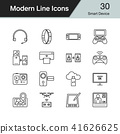 Smart Device icons. Modern line design set 30. 41626625