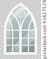Gothic window of wood 41627529