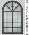 Wooden arched window 41627548