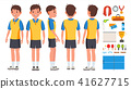Table Tennis Player Male Vector. Game Match. Ping Pong. Isolated Flat Cartoon Character Illustration 41627715